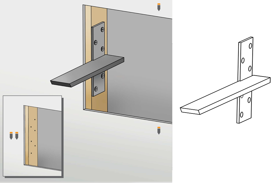 Installation Guide For Floating Wall Mount Bracket